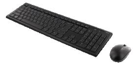 Kompiuterio klaviatūros ir pelės komplektas DELTACO TB-114-LT, bevielė klaviatūra ir pelė, 105 klavišai, LT/EN kalbos, 2.4GHz USB Nano imtuvas, juodos sp.
