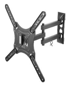 Televizoriaus laikiklis DELTACO ARM-0255, TV 23-55 colių, 3 krypčių, iki 30 kg, 75 x 75 iki 400 x 400 mm, juodos sp.