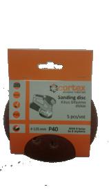 Šlifavimo diskas CORTEX, P40, 125 mm, 5 vnt.