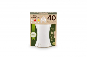 Kapų žvakė VESTINA ECO MINIDELUX, elektroninė, degimo laikas 40 dienų