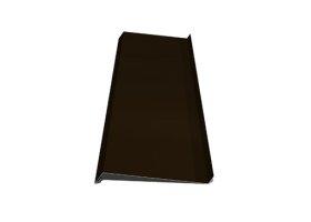Palangė   Matmenys 100 x 2000 mm, rudos spalvos, RR32/RAL8019