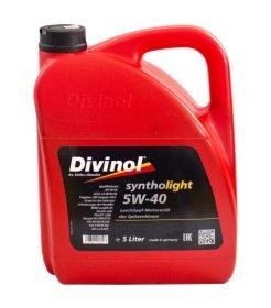 Variklinė alyva DIVINOL 5W-40, SN/CF, Syntholight, 5l, sintetinė
