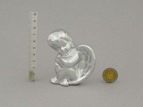 Figūrėlė-dekoracija angeliuko formos, sidabro sp., aukštis 8 cm.