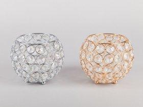 Žvakidė burbulo formos su kristalais
