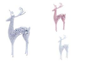 Figūrėlė-dekoracija elnio formos, baltos sp., 24,5 x 11 cm.