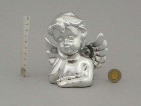 Figūrėlė-dekoracija angelo formos, sidabro sp., aukštis 11,8 cm.