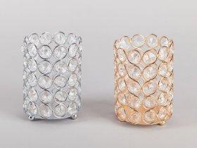 Žvakidė su kristalais