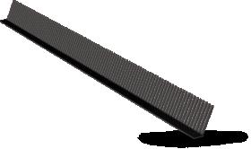 Paukščių užtvara be ventiliacijos Ilgis 1,0 m, juodos spalvos, RAL9005