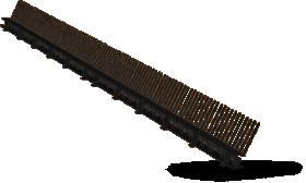 Paukščių užtvara su ventiliacija Ilgis 1,0 m, juodos spalvos, RAL9005