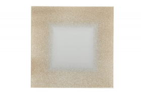 Stalo padėkliukas 4Living Golden square, kvadrato formos, aukso su balta sp., 20 x 20 cm.
