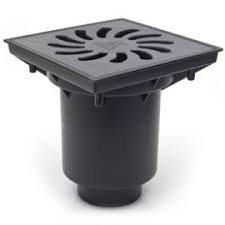 Trapas, lietaus surinkimo MCH d110, 245 x 245, juodas, apatinis pajungimas