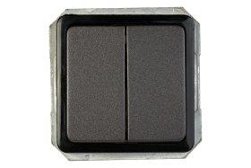 Perjungiklis VILMA SP 300, 2 klavišų, įleidžiamas, antracito spalvos, P(6+6)10-020-02