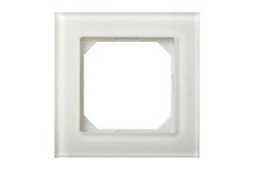 Rėmelis  LIREGUS EPSILON 1 vietos, stiklas, matinis, baltos spalvos, K14-245-01 E/WG,