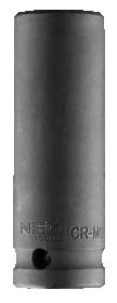 """Smūginė galvutė 1/2"""""""",ilga, 17 mm, Cr-Mo"""
