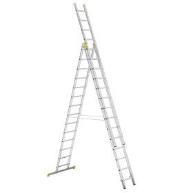 Aliumininės universalios ištraukiamos kopėčios ITOSS FORTE 8614,  412-1034 cm