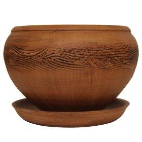 Keramikinis vazonas su padėkliuku