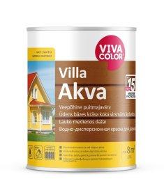Medinių fasadų dažai VIVACOLOR VILLA AKVA, 0,9l, A bazė