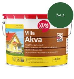 Medinių fasadų dažai VIVACOLOR VILLA AKVA, 9 l, žalios 335X sp.