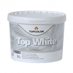Latekso dažai TOPCOLOR TOP WHITE, 1 l