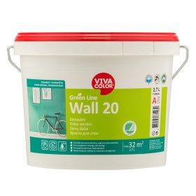 Vandeniniai vidaus dažai VIVACOLOR GREEN LINE WALL 20, 2,7 l, A bazė, balti, pusiau matiniai