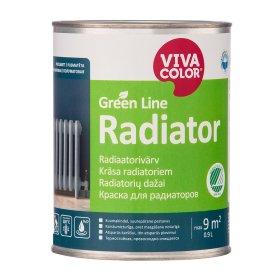 Radiatorių dažai VIVACOLOR GREEN LINE RADIATOR, 0,9 l, A bazė, balti, matiniai