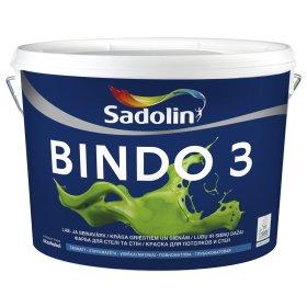 Vandeniniai vidaus dažai SADOLIN BINDO 3, 10 l, BW bazė, balti, visiškai matiniai, ST