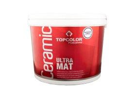 Vandeniniai vidaus dažai TOPCOLOR CERAMIC ULTRA MAT, 10 l, balti, visiškai matiniai, luboms