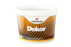 Lateksiniai dažai TOPCOLOR Decor 9, 10 l faktūriniai, struktūriniai, balti, matiniai, atsparūs plovimui ir atmosferos poveikiui