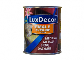 Universalus akrilinis emalis LUXDECOR 0,75 l