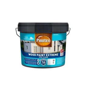 Medinių fasadų dažai PINOTEX WOOD PAINT EXTREME, 10 l, BW bazė, baltos spalvos