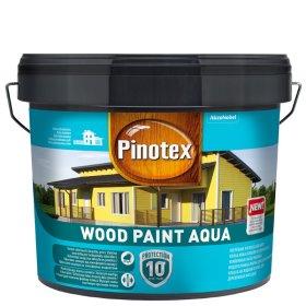 Medinių fasadų dažai PINOTEX WOOD PAINT AQUA, 9 l, geltonos spalvos