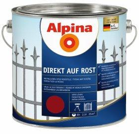 Antikoroziniai dažai ALPINA DIREKT AUF ROST, 2,5 l, blizgūs, vyno raudonumo
