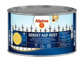 Antikoroziniai dažai ALPINA DIREKT AUF ROST, 0,3 l, blizgūs, rapsų geltonumo spalvos