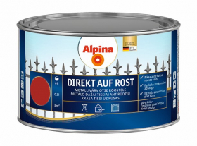 Antikoroziniai dažai ALPINA DIREKT AUF ROST, 0,3 l, blizgūs, raudonos spalvos