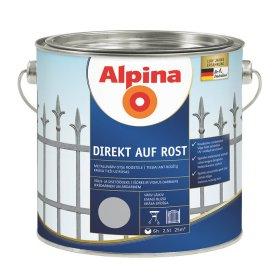 Antikoroziniai dažai ALPINA DIREKT AUF ROST, 2,5 l, blizgūs, juodos spalvos