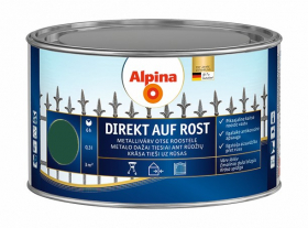 Antikoroziniai dažai ALPINA DIREKT AUF ROST, 0,3 l, blizgūs, žalios spalvos