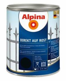 Antikoroziniai dažai ALPINA DIREKT AUF ROST, 0,75 l, blizgūs, juodos spalvos