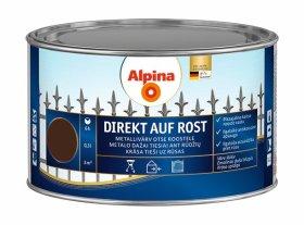Antikoroziniai dažai ALPINA DIREKT AUF ROST, 0,3 l, blizgūs, šokolado spalvos