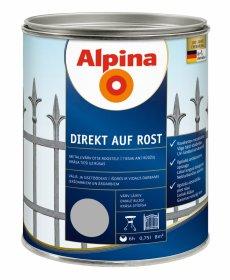 Antikoroziniai dažai ALPINA DIREKT AUF ROST, 0,75 l, blizgūs, sidabrinės spalvos