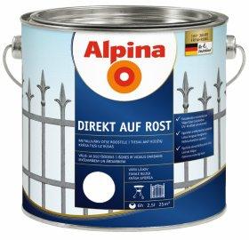 Antikoroziniai dažai ALPINA DIREKT AUF ROST, 2,5 l, blizgūs, baltos spalvos