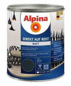 Antikoroziniai dažai ALPINA DIREKT AUF ROST, 0,75 l, matiniai, antracito spalvos, RAL7016