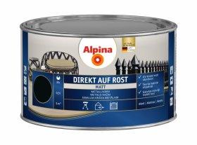 Antikoroziniai dažai ALPINA DIREKT AUF ROST, 0,3 l, matiniai, juodos spalvos, RAL9005