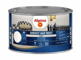 Antikoroziniai dažai ALPINA DIREKT AUF ROST, 0,3 l, matiniai, baltos spalvos, RAL9010
