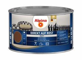 Antikoroziniai dažai ALPINA DIREKT AUF ROST, 0,3 l, matiniai, tamsiai rudos spalvos, RAL8011