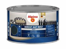 Antikoroziniai dažai ALPINA DIREKT AUF ROST, 0,3 l, matiniai, antracito spalvos, RAL7016