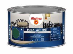 Antikoroziniai dažai ALPINA DIREKT AUF ROST, 0,3 l, matiniai, žalios spalvos, RAL6005