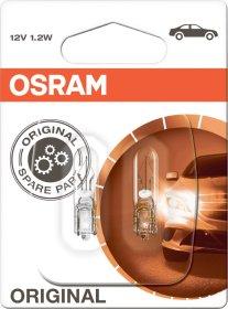 Automobilinė lemputė prietaisų skydeliui OSRAM 1,2W/12V/W2*4,6D Be cokolio, gabaritinė