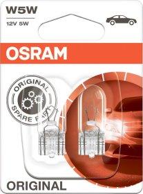 Automobilinė lemputė prietaisų skydeliui OSRAM 5W/12V/W2 1*9,5D Gabaritinė