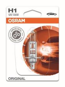 Automobilinė lemputė, halogeninė OSRAM H1 55W/12V