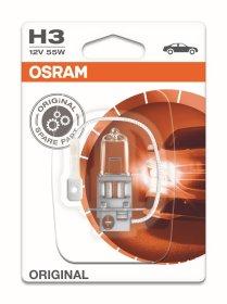 Automobilinė lemputė, halogeninė OSRAM H3 55W/12V